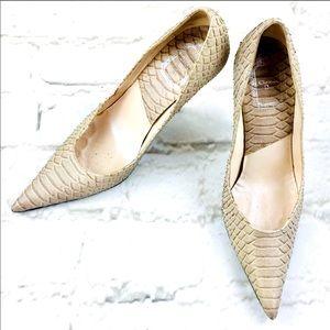 Dior Vintage Miss Escarpin Python Heels Sz 36.5